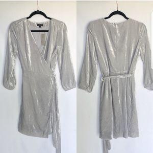J. CREW New Velvet Wrap Dress